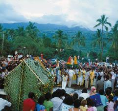Cérémonie à la Réunion